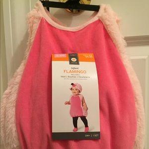 NWT Flamingo Plush Costume - Size 0-6 Months
